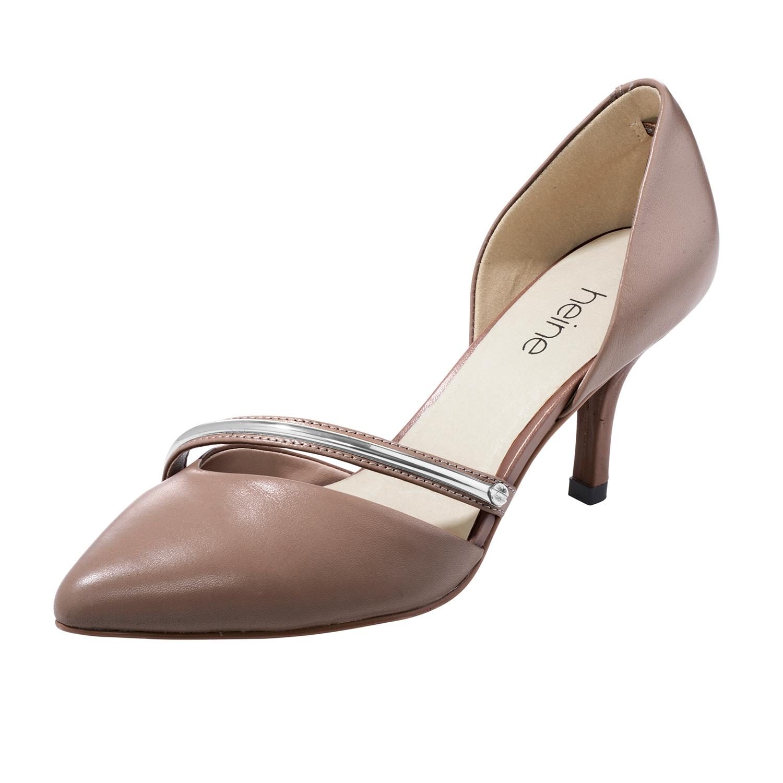 heine pumps high heels echtleder stilettos damen schuhe rind leder nappaleder ebay. Black Bedroom Furniture Sets. Home Design Ideas