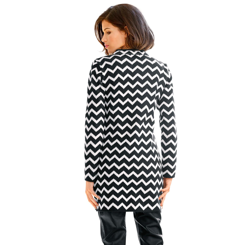 patrizia dini heine damen strickmantel mantel longjacke strick zick zack muster ebay. Black Bedroom Furniture Sets. Home Design Ideas