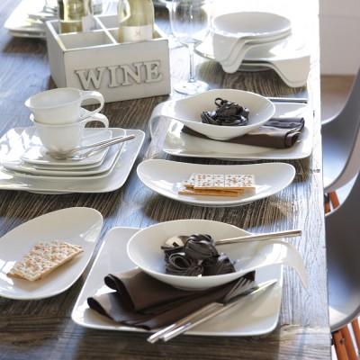 12 tlg tafel service wei teller suppenteller speiseteller speiseservice neu ebay. Black Bedroom Furniture Sets. Home Design Ideas