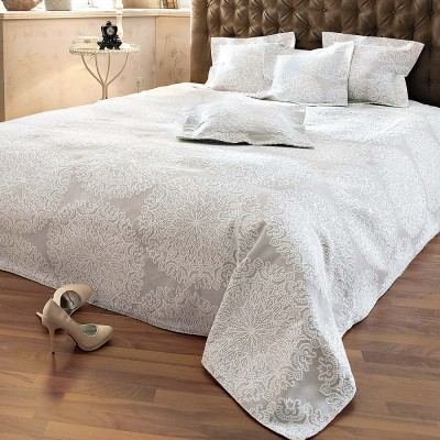 berwurf luisa tagesdecke bett berwurf sofa couch decke grau wei neu ovp ebay. Black Bedroom Furniture Sets. Home Design Ideas