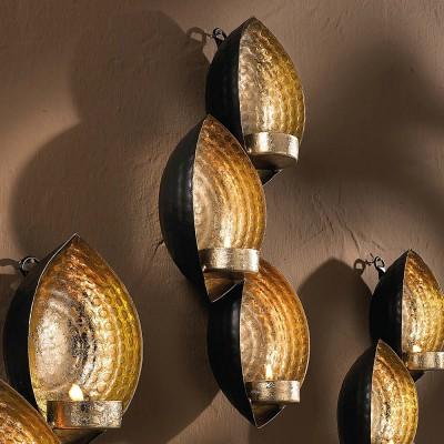 teelichthalter ellipsen trio f r die wand wandhalter teelicht halter neu ovp ebay. Black Bedroom Furniture Sets. Home Design Ideas